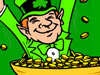Leprechaun With Gold Wallpaper